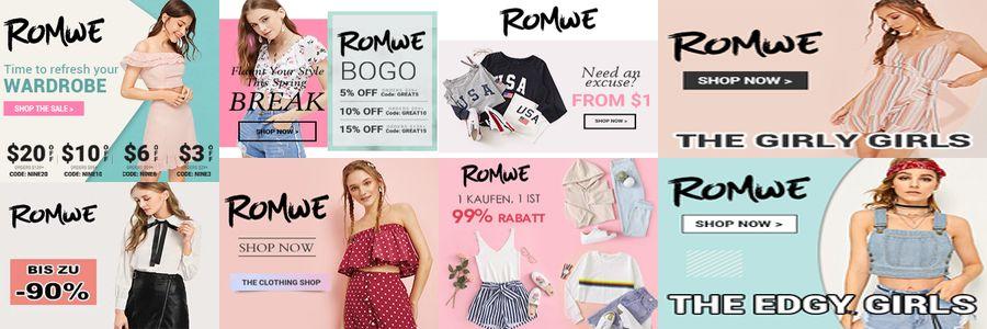 Romwe Banner